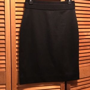 BCBGMaxazria Black Stretch Pencil Skirt